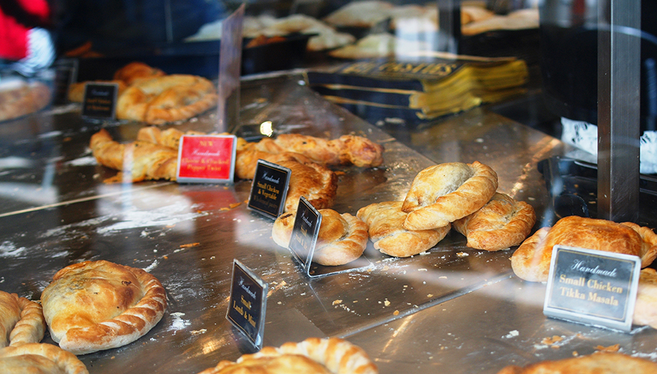 Cousin Jacks Pasties on Display