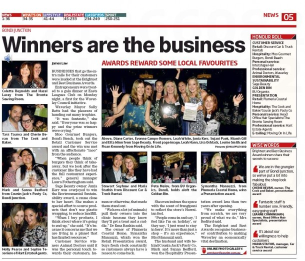 Winners are the business - Wentworth Courier