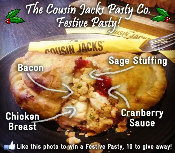 The Cousin Jacks Pasty Co. Festive Pasty