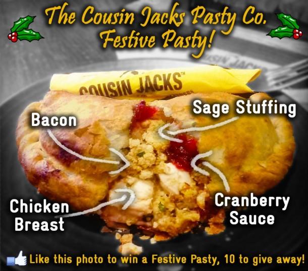 Cousin Jacks Festive Pasty